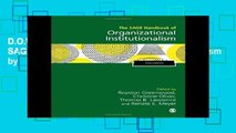 D.O.W.N.L.O.A.D [P.D.F] The SAGE Handbook of Organizational Institutionalism by