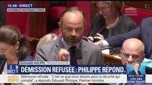 """Collomb: """"Quand il s'agit de la sécurité des Français, jamais il n'y aura d'hésitation de la part du gouvernement"""", réagit Édouard Philippe"""