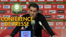 Conférence de presse AS Nancy Lorraine - FC Sochaux-Montbéliard (0-0) : Didier THOLOT (ASNL) - José Manuel AIRA (FCSM) - 2018/2019