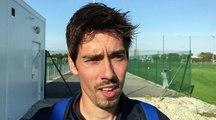 U17 Nationaux – Lucas POULIQUEN réagit après la victoire du GF38 à l'OL