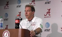 Nick Saban gives thoughts on Jaylen Waddle's big performance