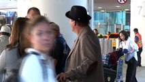 EXCLUSIVE - Film Icon Robert Davi Charms Travelers At LAX