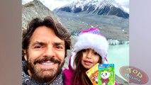 Eugenio Derbez, Alessandra Rosaldo y su hija Aitana se divierten durante su paseo por Nueva Zelanda