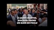 A Saint-Martin, Macron prend de cours son service de sécurité pour rencontrer des sinistrés d'Irma
