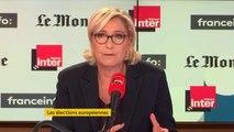 """Marine Le Pen : """"Tous les sondages qui ont été effectués nous donnent au moins en deuxième position aux élections européennes"""""""