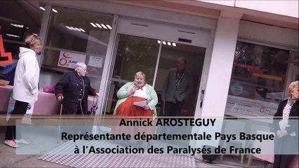 APF PAYS BASQUE - Inauguration du nouveau siège - Discours dAnnick AROSTEGUY