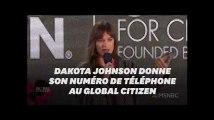 """Dakota Johnson de """"50 nuances de Grey"""" révèle son numéro de téléphone pour une raison bien précise"""