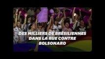 Au Brésil, des milliers de femmes manifestent contre Jair Bolsonaro, le candidat d'extrême droite