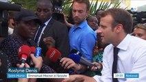 Saint-Martin : Emmanuel Macron à l'écoute des habitants