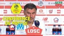 Conférence de presse LOSC - Olympique de Marseille (3-0) : Christophe  GALTIER (LOSC) - Rudi GARCIA (OM) / 2018-19
