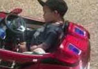 Cool Kid Can't Help But Nap While Driving His Toy Car