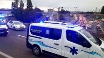 Les ambulanciers sur le périphérique lyonnais