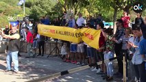 "Manifestantes a Torra: ""No tenemos miedo, no tengas miedo tú""."