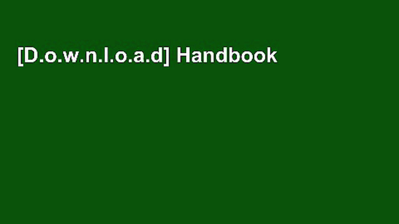 [D.o.w.n.l.o.a.d] Handbook of Loss Prevention and Crime Prevention