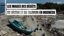 Les images aériennes des dégâts du séisme et du tsunami en Indonésie