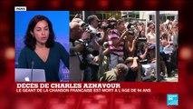 """Décès de Charles Aznavour : """"un monument de la chanson internationale"""""""