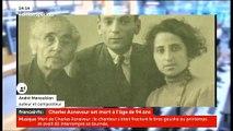 Décès de Charles Aznavour: Regardez la réaction d'André Manoukian