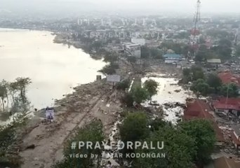 Drone Footage Shows Impact of Tsunami on Indonesia's Palu City