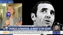 """Mort de Charles Aznavour : """"Sa voix va nous manquer (...) Le monde perd un grand homme"""", estime Françoise Nyssen"""