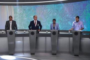 Bolsonaro e Haddad sob fogo cruzado no Debate na TV Record