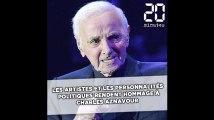 Les artistes et personnalités politiques rendent hommage à Charles Aznavour