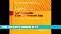 [P.D.F] Sustainable Entrepreneurship: Business Success through Sustainability (CSR,