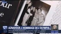 A l'Olympia, salle fétiche de Charles Aznavour, des artistes lui rendent hommage