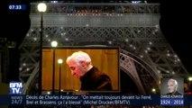 Une tour Eiffel en or: le très bel hommage de Paris à Charles Aznavour