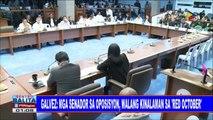 #SentroBalita: Galvez: Mga Senador sa oposisyon, walang kinalaman sa 'Red October'