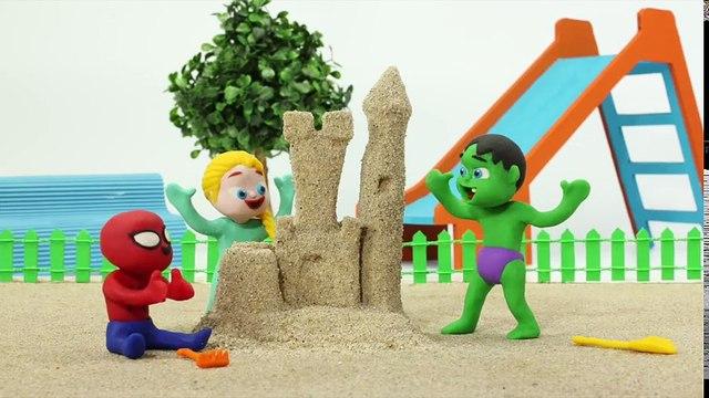 Tv cartoons movies 2019 Frozen Elsa & Anna Play With Sand Figures - Superhero Babies Play Doh Cartoons - Stop Motion Movies