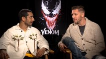 Riz Ahmed and Tom Hardy talk about 'Venom'
