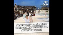 Fashion week: Défilé en bord de mer pour Chanel au Grand Palais