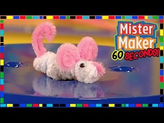 Pipe Cleaner Mouse  - HOW TO MAKE IN 60 SECONDS | Mister Maker
