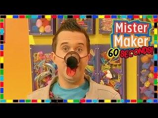 Paper Dog Nose  - HOW TO MAKE IN 60 SECONDS | Mister Maker