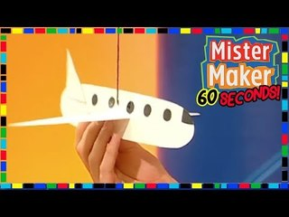 Slot Plane  ️ - HOW TO MAKE IN 60 SECONDS | Mister Maker
