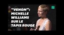 """""""Venom"""": Michelle Williams rayonnante sur le tapis rouge du nouveau Marvel"""