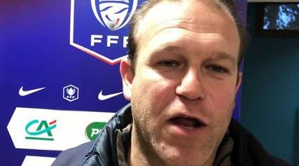 Coupe de France – Richard ROLLET (FC Val Lyonnais) réagit après le tirage du 5ème tour