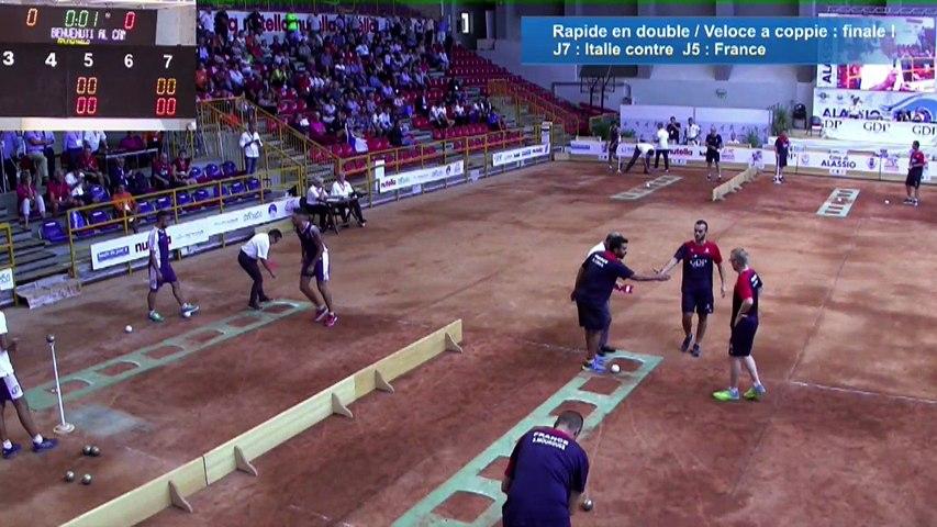 Finale tir rapide en double, Euro masculin, Alassio 2018