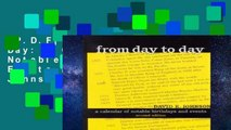 [P.D.F] From Day to Day: A Calendar of Notable Birthdays and Events by David E. Johnson