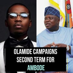 Olamide Seeks A Second Term For Governor Ambode Of Lagos State