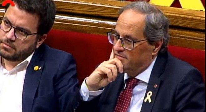 Arrimadas saca la bandera de España en el Parlament