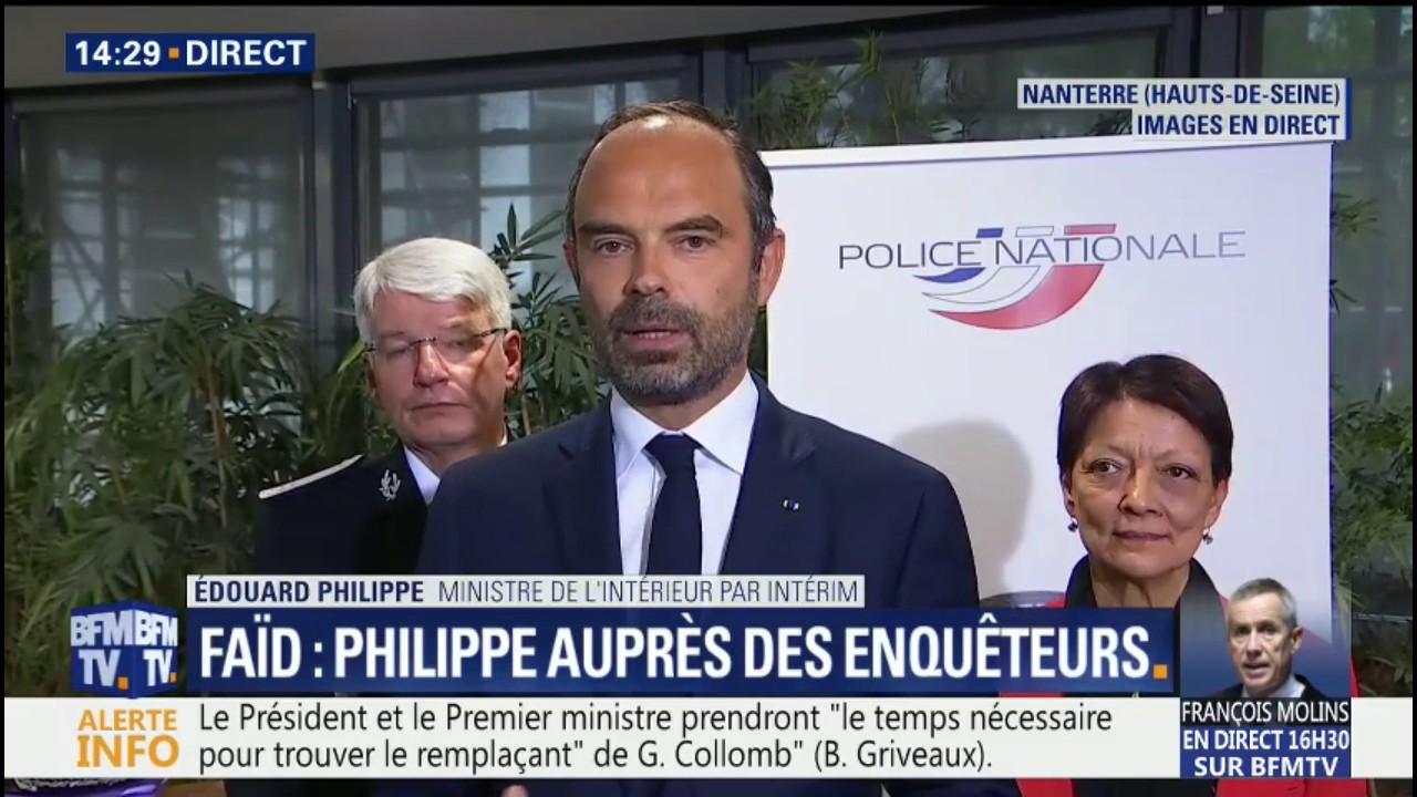 """Arrestation de Redoine Faïd: """"J'ai été impressionné par l'engagement de ces femmes et de ces hommes"""", salue Édouard Philippe"""