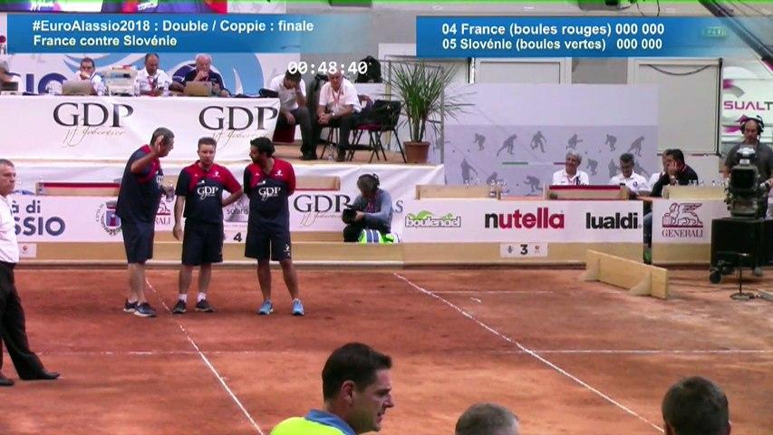 Finale Double, Euro masculin, Alassio 2018