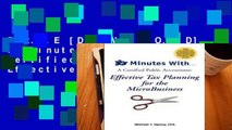 F.R.E.E [D.O.W.N.L.O.A.D] 30 Minutes With...a Certified Public Accountant: Effective Tax Planning