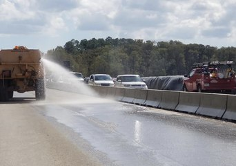 SCDOT Removes Flood Barrier from Conway Highway
