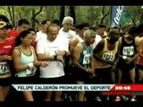 Deportes Dominical. Calderón combate el sida con el deporte
