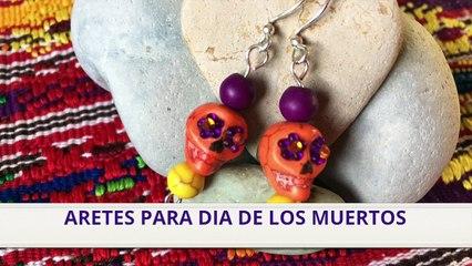 Aretes para Día de los Muertos