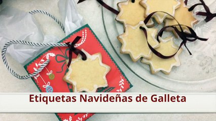 Etiquetas navideñas de galleta