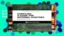 [P.D.F] Sampling: A Guide for Internal Auditors by Barbara Apostolou