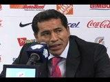 Conferencia de Chivas después del primer triunfo de Chivas en el torneo. CadenaTres Deportes.